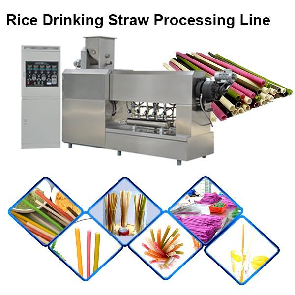 Eco Friendly Juice Cocktail Coffee Biodegradable Drinking Straw Machine #1 image
